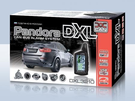 Pandora DXL 3210i (2010.12, интегрированный CAN, брелок 074 LCD - AAA, брелок R304L — CR2032), встр.датчик движ., без а/з, б/c