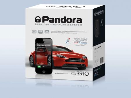 Pandora DXL 3910 (2013.06, интегрированный 2хCAN, LIN, GSM-модем, брелок-метка IS-750 black v2 — CR2032 ), встр.датчик движ., с а/з, б/c, встр. темп.датчик салона, с автозапуском без доп. модулей (без