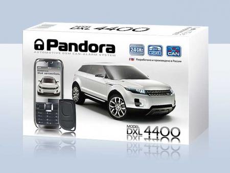 Pandora DXL 4400 (2012.12, интегрированный CAN, GSM-модем, а/з, брелок-метка IS-750 black — CR2032)