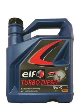 Моторное масло ELF Turbo Disel SAE 10W-40 (5л)
