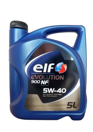 Моторное масло ELF Evolution 900 NF, 5W-40, 5л, 194872