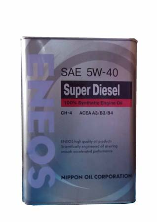 Моторное масло ENEOS Super Diesel SAE 5W-40 (4л)