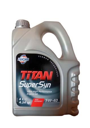 Моторное масло FUCHS Titan SuperSyn SAE 5W-40 (4л) (600930783)