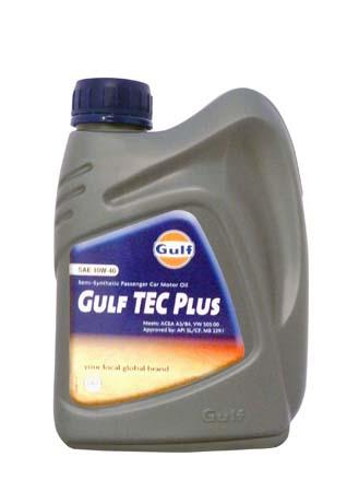 Моторное масло GULF TEC Plus SAE 10W-40 (1л)