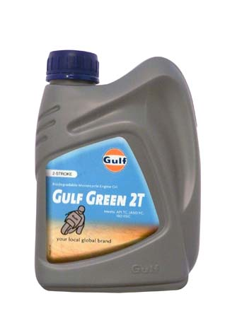 Моторное масло для 2-Такт двигателей GULF Green 2T (1л)