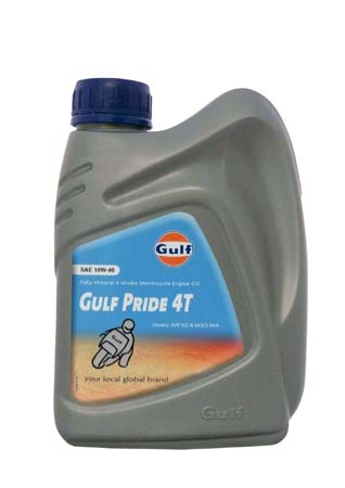 Моторное масло для 4-Такт двигателей GULF Pride 4T SAE 10W-40 (1л)