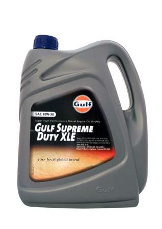Моторное масло GULF Supreme Duty XLE SAE 10W-30 (4л)