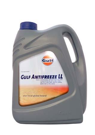 Антифриз концентрированный синий GULF Antifreeze LL (5л)