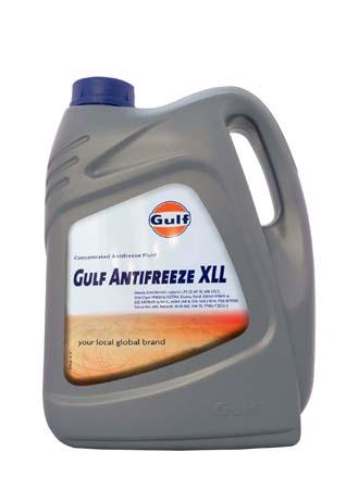 Антифриз концентрированный красный GULF Antifreeze XLL (5л)