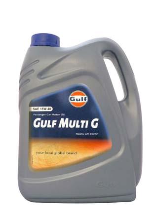Моторное масло GULF Multi G SAE 15W-40 (5л)