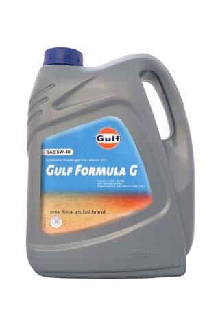 Моторное масло GULF Formula G SAE 5W-40 (5л)