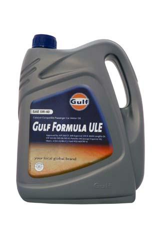 Моторное масло GULF Formula ULE SAE 5W-40 (4л)