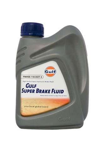 Тормозная жидкость GULF Super Brake Fluid DOT 4 (1 л)