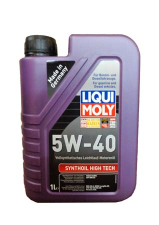 LiquiMoly 5W40 Synthoil High Tech (1L) масло мотор.!син.\API SM/CF,ACEA A3-04/B4-04:MB229.3,BMW,VW L