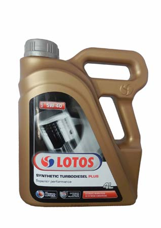 Моторное масло LOTOS TurboDiesel Synthetic Plus SAE 5W-40 (4л)