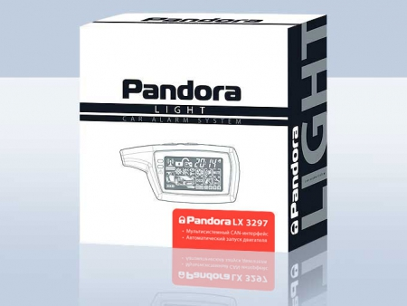 Pandora LX 3297 (2013.04, интегрированный CAN, брелок 074 LCD - AAA, брелок R304L — CR2032), встр.датчик движ., с а/з, б/c