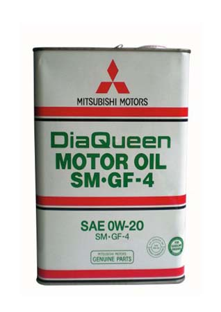 Моторное масло MITSUBISHI DiaQueen SAE 0W-20 SM/GF-4 (4л)