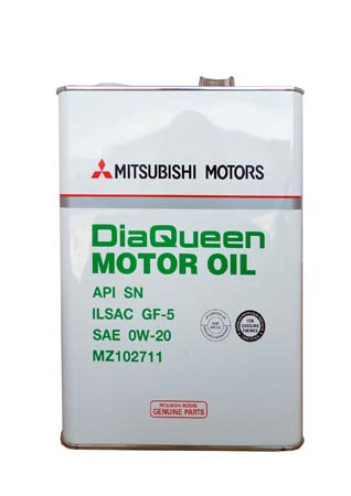 Моторное масло MITSUBISHI Dia Queen Motor Oil SAE 0W-20 API SN/GF-5 (4л)