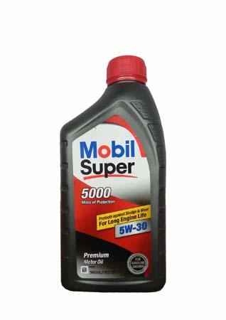 Моторное масло MOBIL Super 5000 SAE 5W-30 (0,946л) (120432)