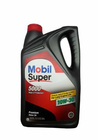 Моторное масло MOBIL Super 5000 SAE 10W-30 (4,830л)