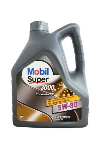Моторное масло Mobil Super 3000 X1 Formula FE, 5W-30, 4л, 152056