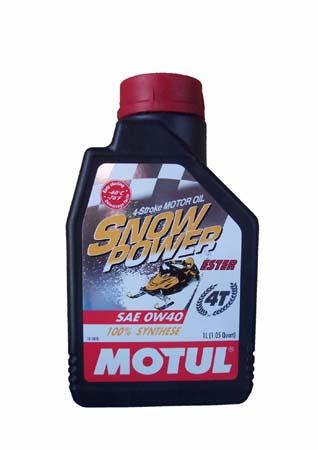 Моторное масло MOTUL Snowpower 4T, 0W-40, 1л, 101230