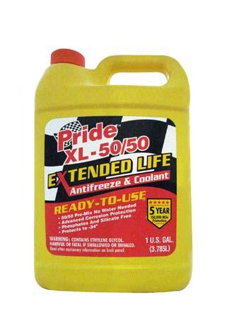 Антифриз готовый к прим. оранжевый PRIDE XL-50/50 Extended Life Antifreeze & Coolant (3,785л)