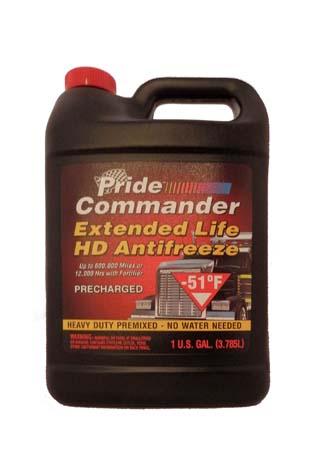 Антифриз готовый к прим. красный PRIDE Commander Extended Life HD Antifreeze (3,785л)