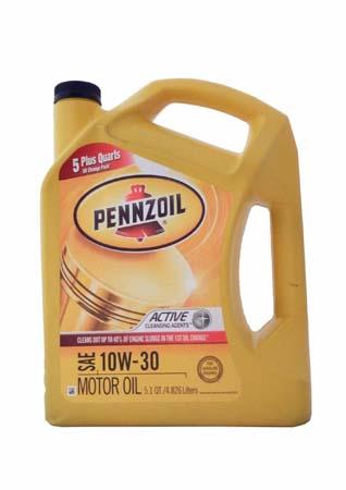 Моторное масло PENNZOIL SAE 10W-30 (4,826л)**