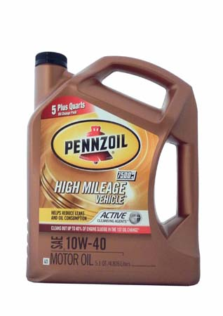Моторное масло PENNZOIL High Mileage Vehicle SAE 10W-40 (4,826л)