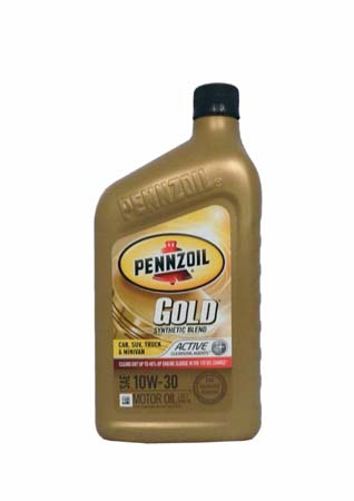 Моторное масло PENNZOIL Gold Synthetic Blend SAE 10W-30 (0,946л)