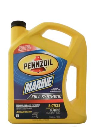 Моторное масло для 2-Такт лод. мот. PENNZOIL Marine Full Synthetic 2-Cycle (3,785л)