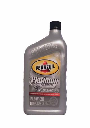 Моторное масло PENNZOIL Platinum SAE 5W-20 Full Synthetic Motor Oil (Pure Plus Technology) (0,946л)