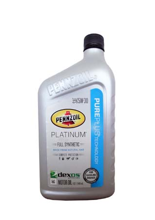 Моторное масло PENNZOIL Platinum SAE 5W-30 Full Synthetic Motor Oil (Pure Plus Technology) (0,946л)