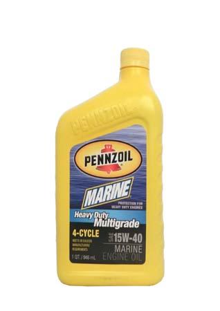 Моторное масло для 4-Такт лод. мот. PENNZOIL Marine Heavy Duty Multigrade 4-Cycle SAE 15W-40 (0,946л