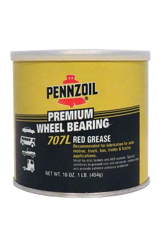 Смазка PENNZOIL Premium Wheel Bearing 707L Red Grease (0,454л)