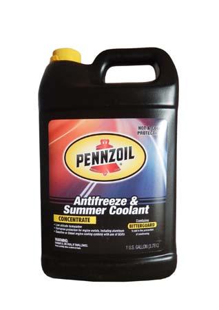 Антифриз концентрированный желтый PENNZOIL Antifreeze&Summer Coolant (3,785л)