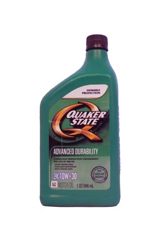 Моторное масло QUAKER STATE Advanced Durability SAE 10W-30 (0,946л)