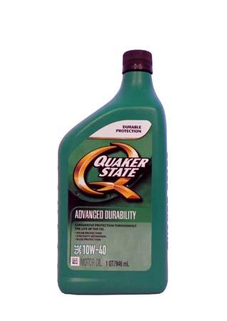 Моторное масло QUAKER STATE Advanced Durability SAE 10W-40 (0,946л)