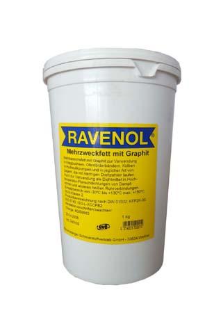 Смазка с графитом RAVENOL Mehrzweckfett m. Graphit (1кг)