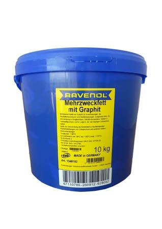 Смазка с графитом RAVENOL Mehrzweckfett m. Graphit (10кг)