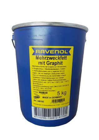 Смазка с графитом RAVENOL Mehrzweckfett m. Graphit (5кг)