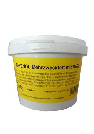 Смазка RAVENOL Mehrzweckfett m.MOS 2 (1кг)