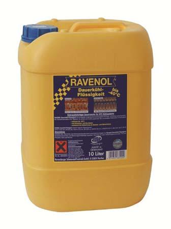 Антифриз готовый к прим. жёлтый RAVENOL Dauerkuehlfluessigkeit (10л)