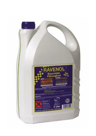 Антифриз готовый к прим. жёлтый RAVENOL Dauerkuehlfluessigkeit ( 5л)*