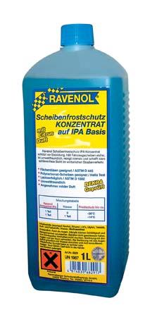 Жидкость зимняя концентрат для стеклоомывателя RAVENOL Scheibenfrostschutz KONZENTRAT auf IPA Basis