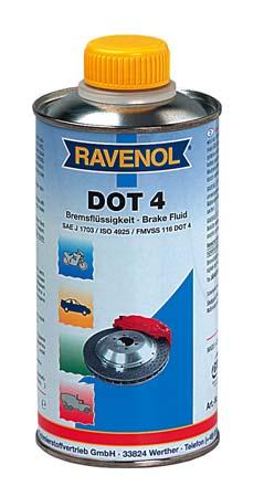 Тормозная жидкость RAVENOL DOT-4 (0,5 л)
