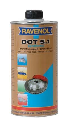 Тормозная жидкость RAVENOL DOT-5.1 (0,5л)