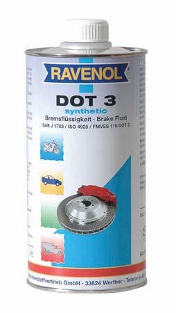 Тормозная жидкость RAVENOL DOT-3 (1 л)