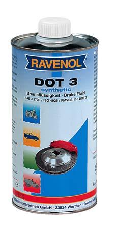 Тормозная жидкость RAVENOL DOT-3 (0,5 л)